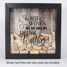 Shadow Box Wine Cork Holder wooden shadow box
