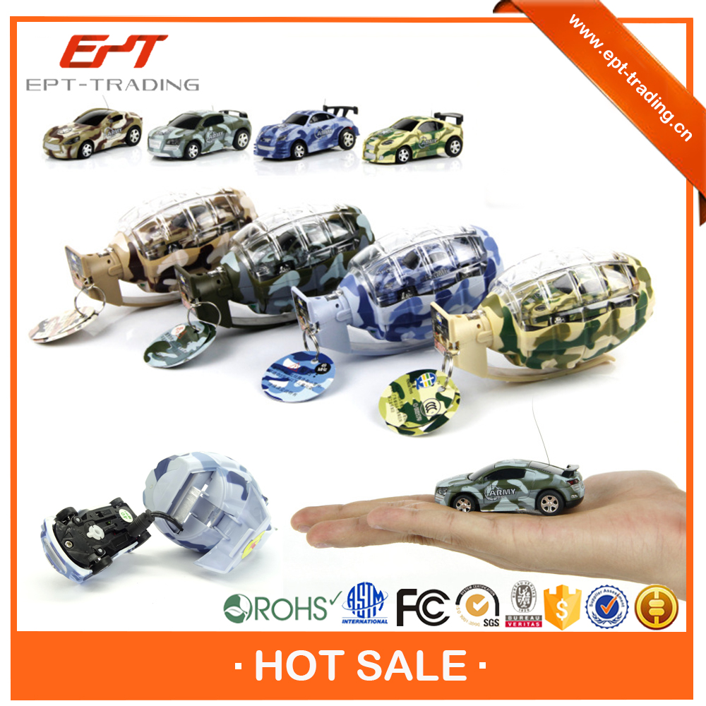 Hot selling 1 63 scale 4CH mini rc car with grenade package