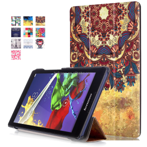 New Arrival Folding PU leather smart Case Cover For Lenovo Tab2 A8
