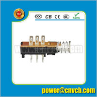 AB-403 KZJ2*2-A hot sale low price momentary electronic 3PDT push button switch