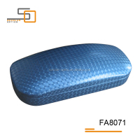 Hot sell Navy PU leather hard glasses case