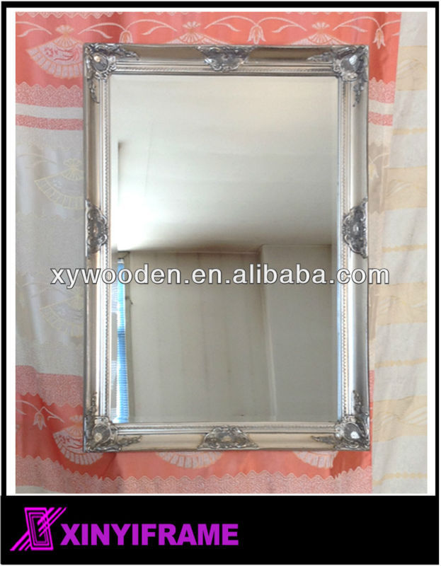 bedroom 60x80cm foil silver toilet mirror timber mirror