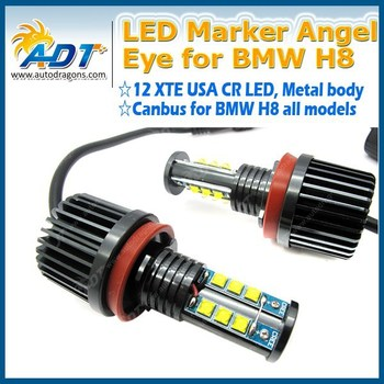 H8 120W LED Angel Eye Marker Bulbs Kit for BMW H8 E87 E82 E90LCI E91 E92 E93 E60 E84 E89 E70 E71 X5 X6