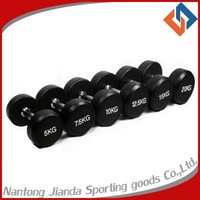 rubber custom dumbbell for Crossfit Weight Lifting Training