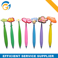 Rubber Fancy Wholesale Top Flower Pen