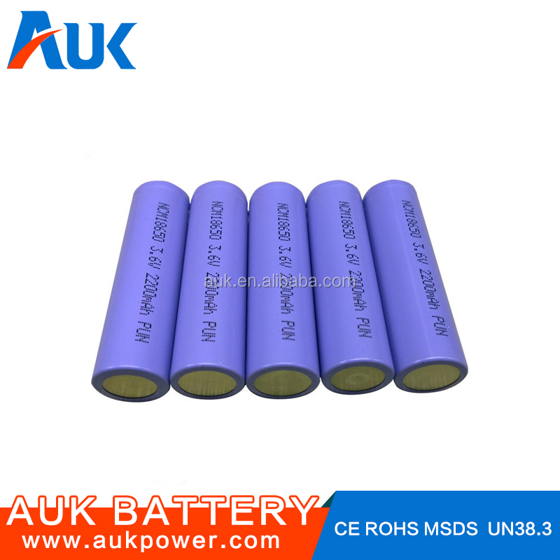 Li-ion Battery Cell 3.7v 2.2ah 18650 Drain Battery
