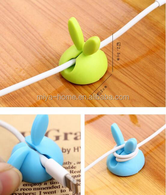 Lovely Silicone cable wire organizer / Bobbin winder / cable holder