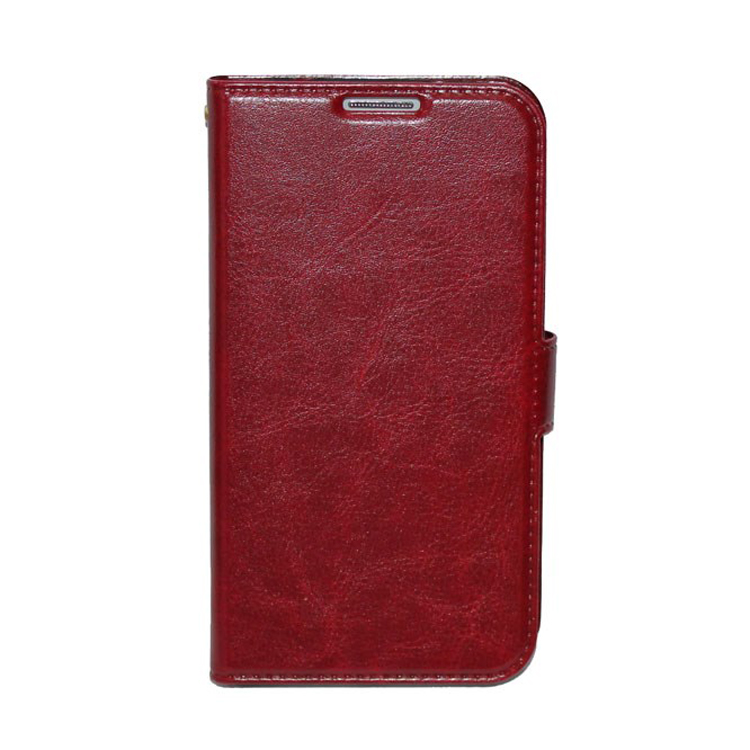 Crazy horse pattern phone case leather phone shell flip leather holster for samsung galaxy s4