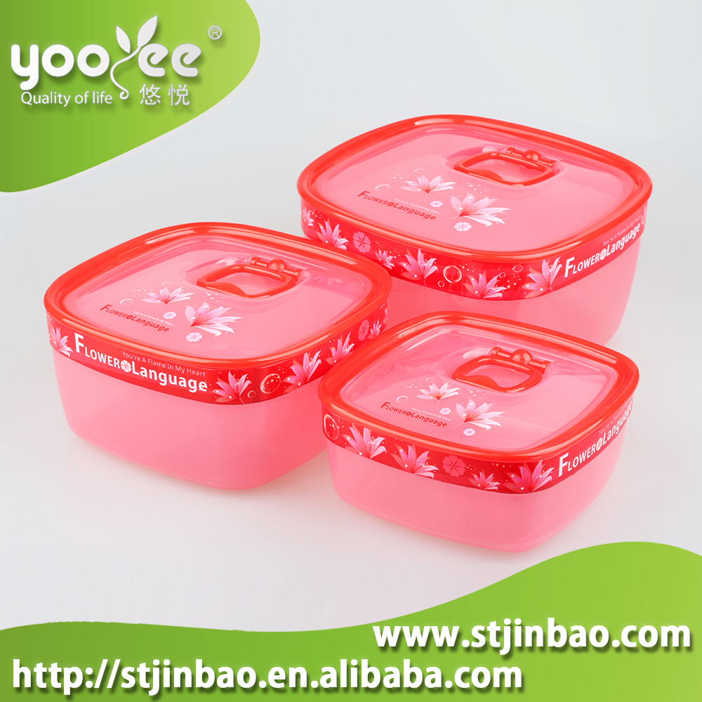 China Wholesale Good Sealing Food Packing Box:Square BPA Free PP Plastic Clear Food Container with Lid Lock