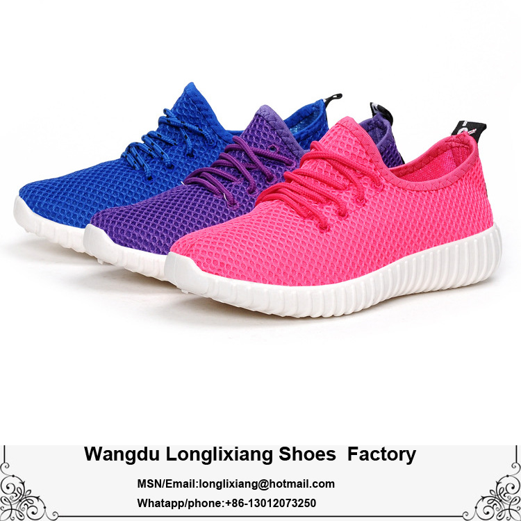 Wholesale Fashion Cheap Women Casual Running Shoes yezzy boost 350 mesh shoes