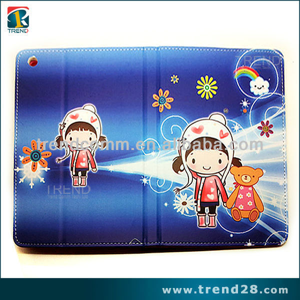 cute cartoon pattern leather case for ipad mini 2