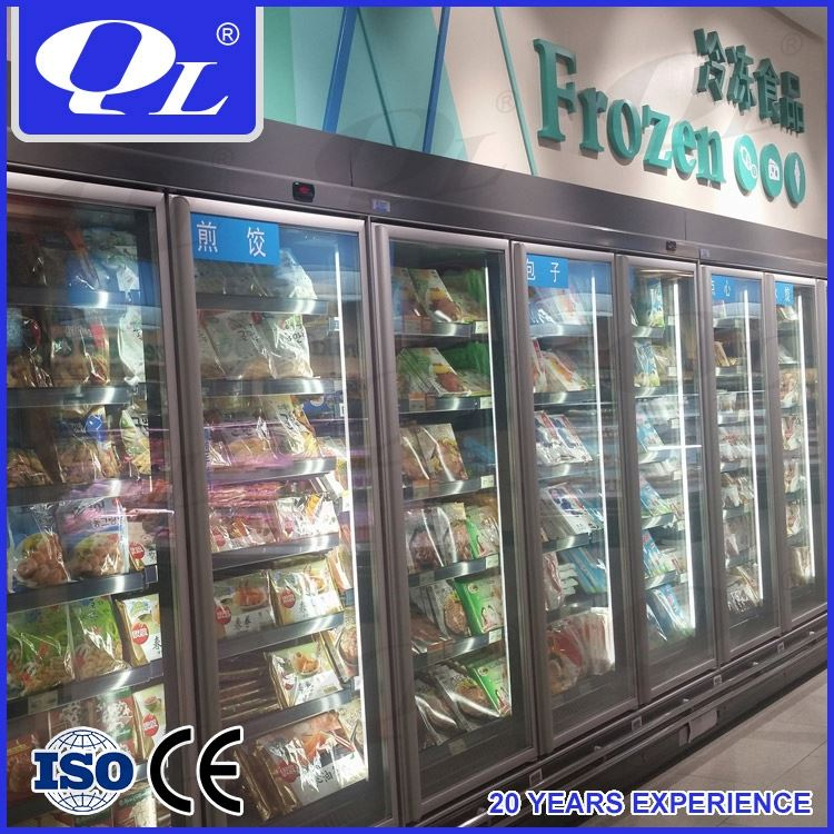 Commercial Supermarket Refrigeration Wall Case lg deep freezer price