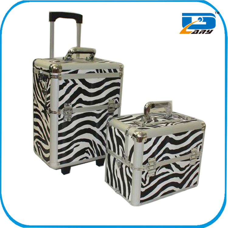 Professional aluminum trolley hairdressing case for beauty