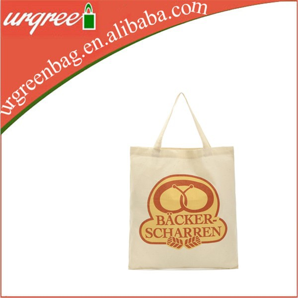Beige Canvas Promotional Bag With Logo