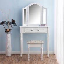 Mirrored Storage Painted Dresser Chest Makeup Vanity Desk