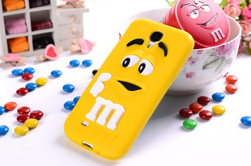 For Samsung Galaxy S4 I9500 3D cute Cartoon MM Chocolate jelly Bean Silicone Case,500pcs/lot free shipping