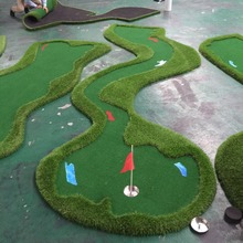 Customized Artificial grass 18 Hole Golf Green Golf Putting Mat