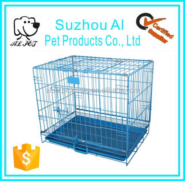 Folding Metal Pet Cat Crate Iron Fence Dog Kennel