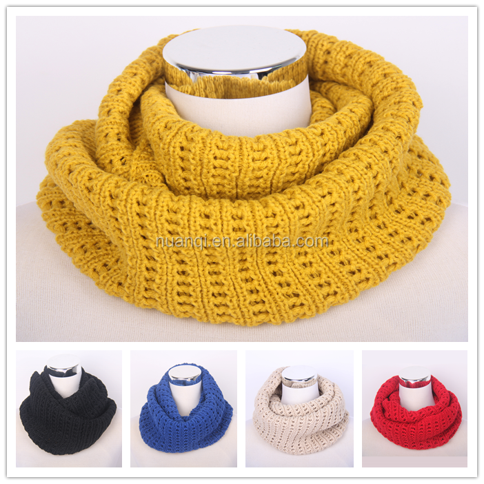 Fashion Cheap Sale Men and Women Soft Knit Double Loop Infinity Christmas Scarves