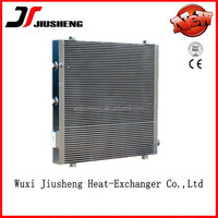 China Manufacture Air Cooled Plate and Bar hydraulic fan oil cooler with lager heat transfer surface