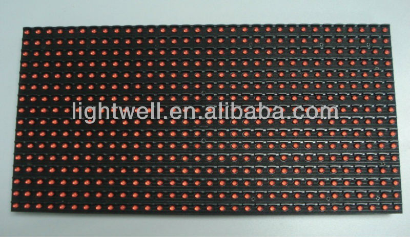 p10 single red color led moving message display