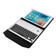 "2-in-1 Ultra Thin Aluminum Alloy Wireless Bluetooth Keyboard + Leather Case Cover For iPad 9.7"" 2017"