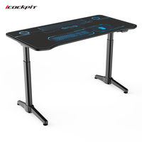 dual motor adjustable height electric lift up office computer table