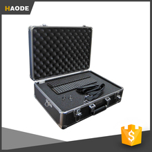 Medium Aluminum Hard Shell Case With Extra Padding Foam For Cameras, Camcorders, Photographic Equipment and Portable DVD Player