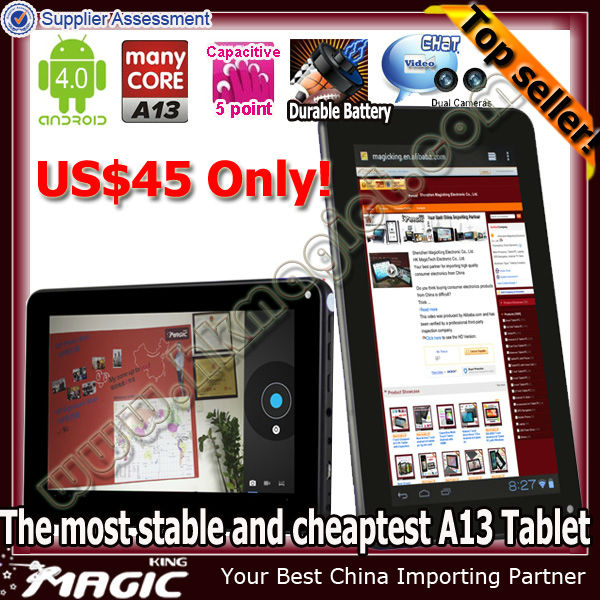 Most Economic 7 inch android 4.0 capacitive mdi tablet pc palmtop