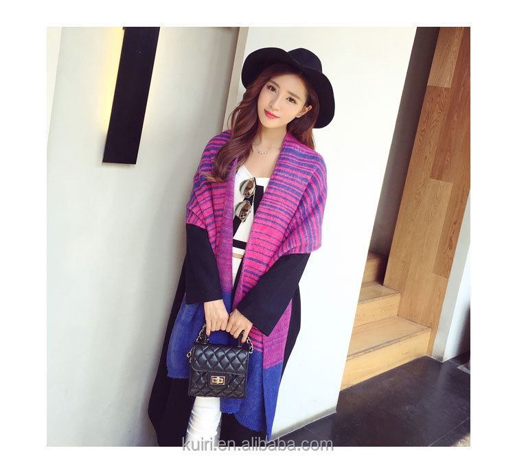Brand Women Winter Plaid Square Knitted Scarf Female Warm Shawls Cotton Scarves