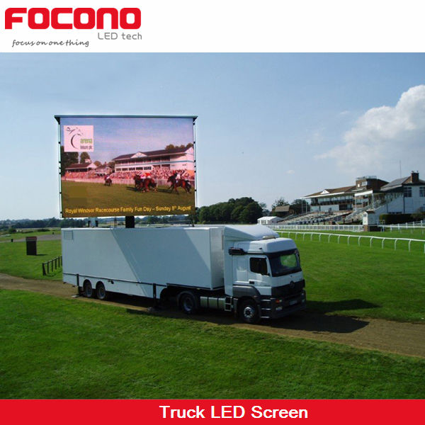 LED walking movable high pixel P10mm advertising billboard