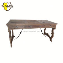 French antique reproduction solid wood writing desk /drawer table