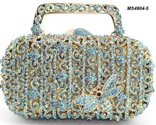 Lady clutch bag evening indian beaded purses handmade crystal guangzhou wholesale