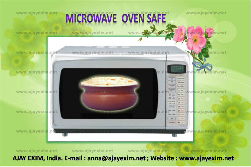 Clay Microwave Oven Safe Pot