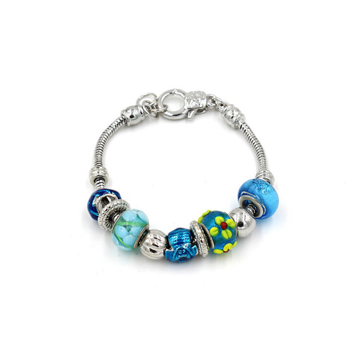 Wholesale lastes design bracelet fashion jewelry accessories silver beads child bracelet