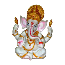 Gold statue of lord ganesh ganpati indian murtis