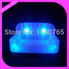 Attractive led inflatable air sofa,used illuminated led inflatable furniture for party event