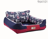 Alibaba wholesale latest designs large big machine washable luxury national flag pattern dog pet pillow bed for UK dogs online