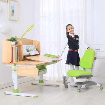 Children Furniture Desk And Chair Set Ergonomic Design
