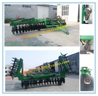Cultivating machine tractor trailed folding wing disc harrow