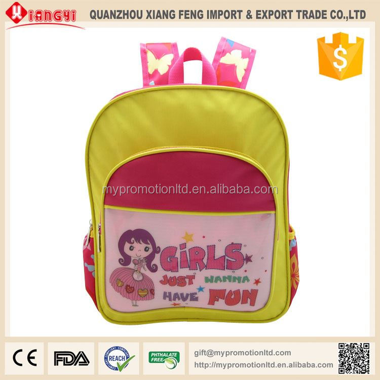 New design heavy duty nylon school backpack bags manufacturers small moq for kids frozen