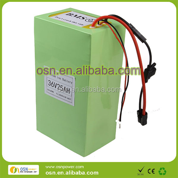 OEM deep cycle 36v lithium ion 25ah li-ion battery pack for e-scooter
