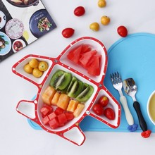 Cartoon colored Poilt Astronaut Plane Ceramics Dinner Plate Dish for Kids Snack Food <strong>Container</strong>