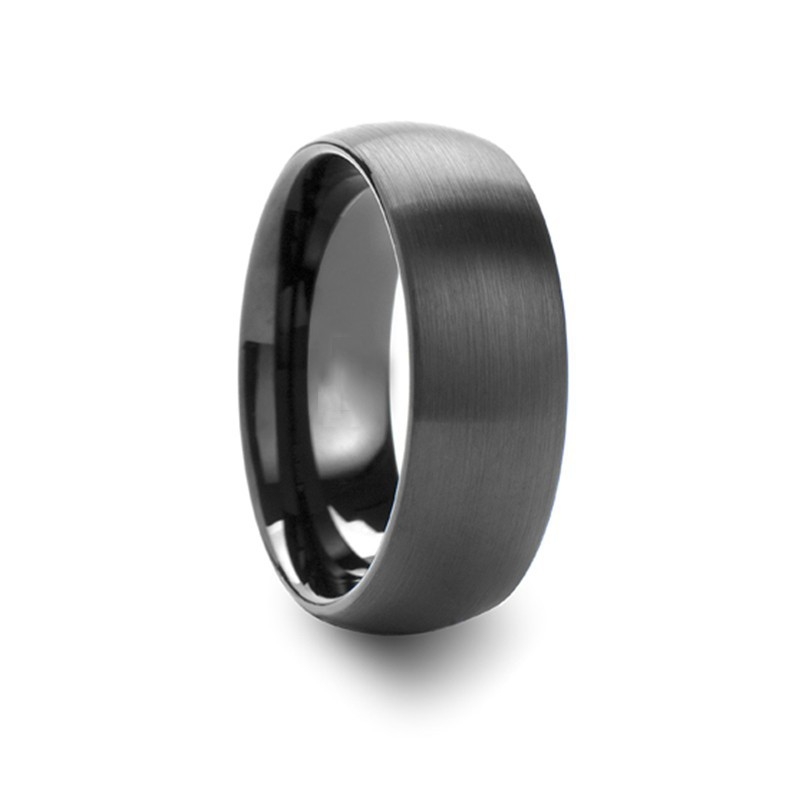 High-Quality Cool Mens Tungsten Ring Chocolate Brown Micro Ring Hair Extensions Contemporary Engagement Rings
