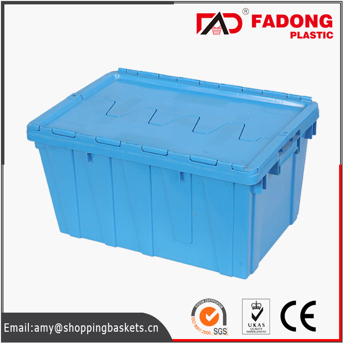 Plastic folding fruit crates used in supermarket for sale