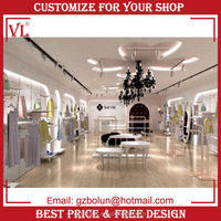 New concept wooden retail clothing garment small retail store shop wall display racks design ideas