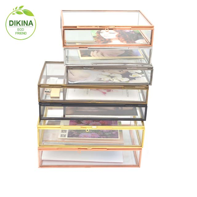 China lingerie&baby kids clothes& makeup organizer; hello kitty^ food plastic container homes[] glass metal foldable storage box
