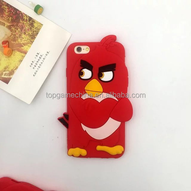 3D Animal shape bird phone case for iPhone 5 soft silicone back over