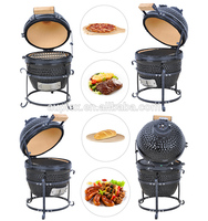 2016 Auplex High Quality Black Egg Shaped Portable Ceramic BBQ Kamado