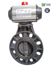 butt clamped pneumatic pvc butterfly valve plastic material goods from china